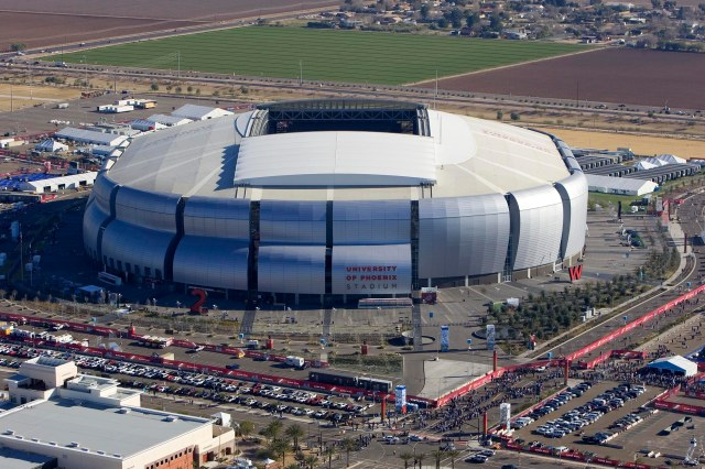 University of Phoenix stadium, site of this years Super Bowl.